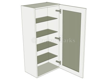 Low Glazed Dresser Unit - No drawer - shown with doors/drawer fronts