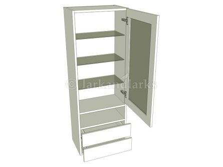 Tall Glazed Dresser Unit - A - shown with doors/drawer fronts