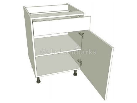 Drawerline Kitchen Base Unit - Single - shown with doors/drawer fronts