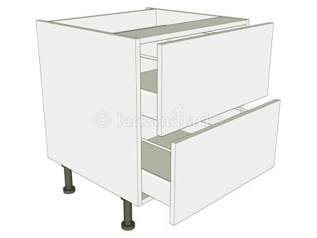 2 drawer low level drawer pack carcass