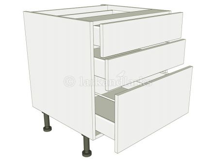 Low Level 3 Drawer Base Unit - shown with doors/drawer fronts