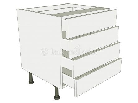 Low Level 4 Drawer Base Unit - shown with doors/drawer fronts