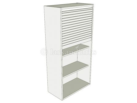 Medium dresser tambour unit carcass and tambour door kit 1210mm high
