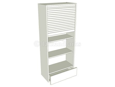 Tall Dresser Tambour Unit - shown with doors/drawer fronts