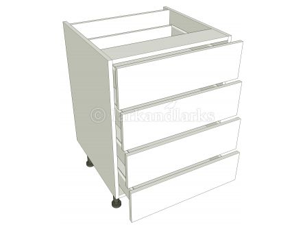 4 Drawer Base Unit - shown with doors/drawer fronts
