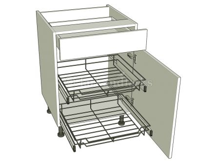 Kitchen Base Unit For Pull-out Storage  - Drawerline - shown with doors/drawer fronts