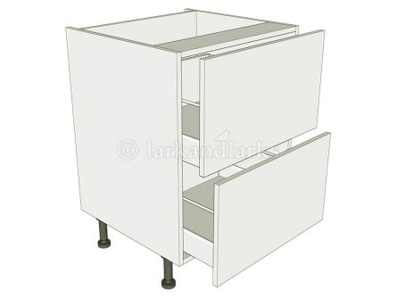 2 Drawer Base Unit - shown with doors/drawer fronts