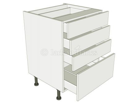 4 Drawer kitchen unit drawer pack with pan drawer