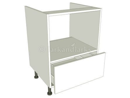 Built under microwave housing carcass 720mm high with pan drawer