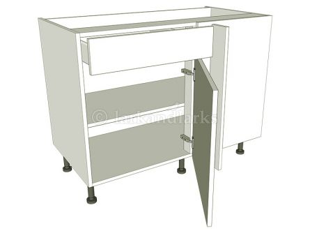 Variable Corner Kitchen Base Unit - Working Drawer - shown with doors/drawer fronts