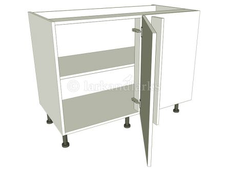 Variable Corner Kitchen Base Unit Highline - shown with doors/drawer fronts