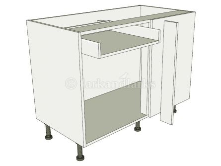 Variable corner drawerline carousel lark larks for Service void kitchen units