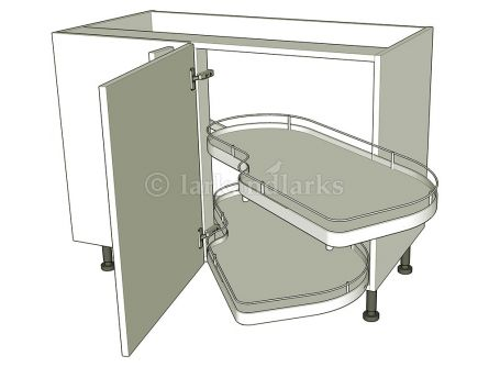 Variable Corner Highline - Carousel - shown with doors/drawer fronts