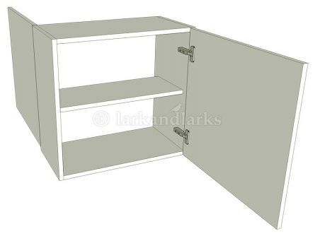 Peninsula Kitchen Wall Unit Low Single - shown with doors/drawer fronts