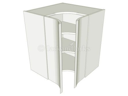 Concave corner kitchen wall unit
