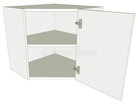 Diagonal corner wall unit carcass