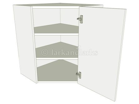 Diagonal Corner Kitchen Wall Unit - Tall - shown with doors/drawer fronts