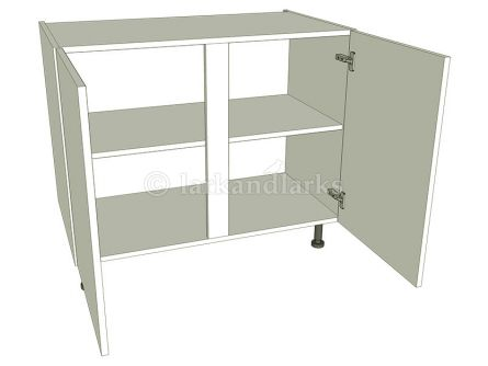 Kitchen Double Base Unit - Flat pack - shown with doors/drawer fronts