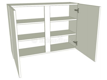 Kitchen Tall Double Wall Unit - Flat Pack - shown with doors/drawer fronts