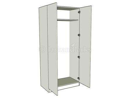 Double wardrobe bedroom units