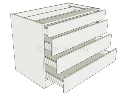 4 drawer standard height bedroom unit