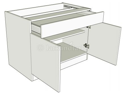 double drawerline unit with full width single  drawer