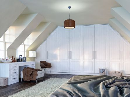 Bella Palermo bedroom in Open Grain White