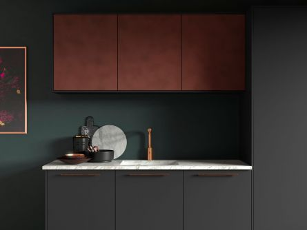 Cosdon Painted Kitchen in Matt Graphite & Tarnished Copper