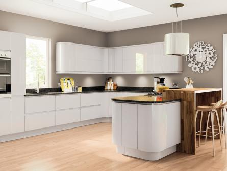 Lacarre Light Grey Handleless Kitchen Door - Light grey kitchen doors
