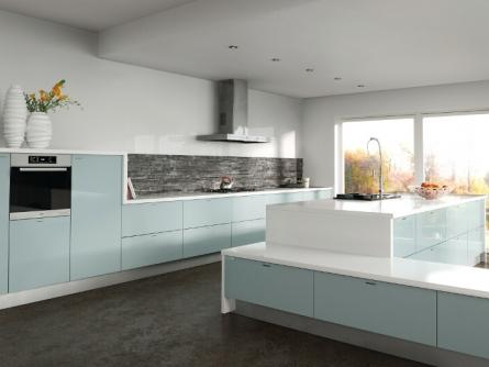 Zurfiz kitchen in Metallic Blue