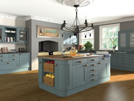 Shaker Style Kitchen in Paintable Vinyl Contrast