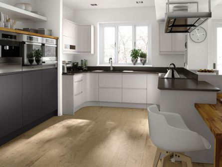 Remo Dove Grey Matt Kitchen Door Lark Larks - Matt grey kitchen doors