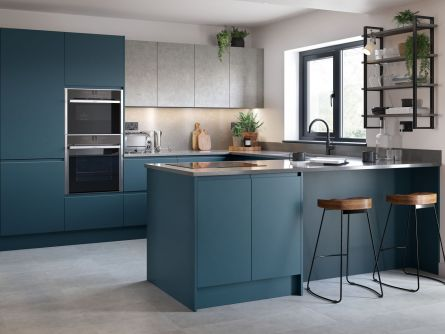 Remo Kitchen in Matt Hartforth Blue