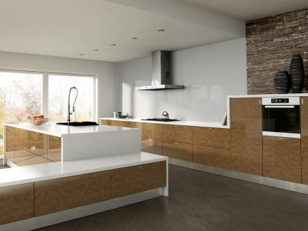Zurfiz kitchen in Ultragloss Copperleaf