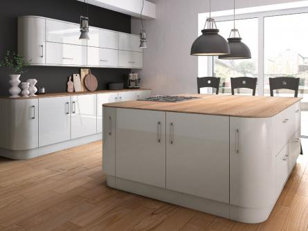 Zurfiz kitchen in Ultragloss Light Grey