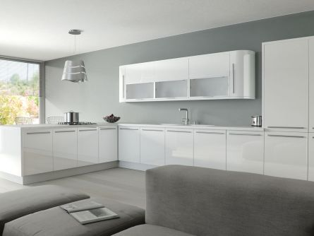Zurfiz kitchen in Ultragloss White