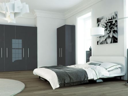 Zurfiz bedroom in metallic anthracite