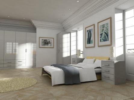 Gravity bedroom in Gloss Cream