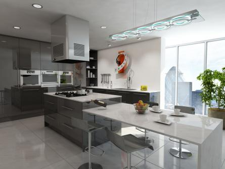 Gravity kitchen in Gloss Metallic Anthracite