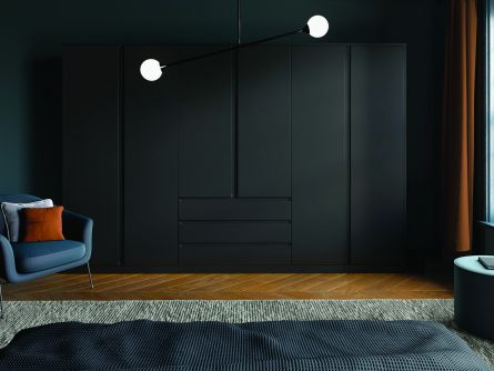 Bella Knebworth bedroom in Matt Black finish.