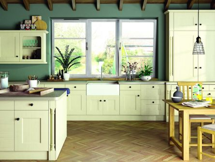Cambridge Kitchen in Oakgrain Cream Finish