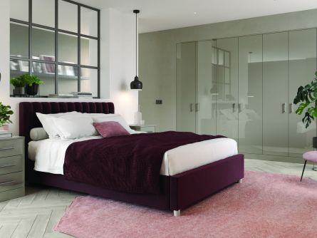 Zurfiz bedroom in Ultragloss Stone Grey