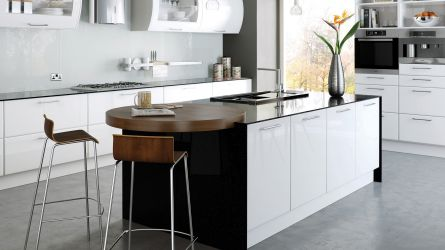 Slab Door Kitchens