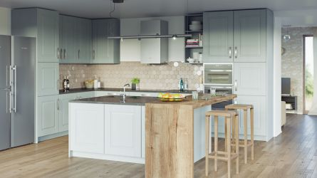 Coniston kitchen - painted oak fjord finish
