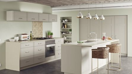 Keswick kitchen - painted oak Dakar