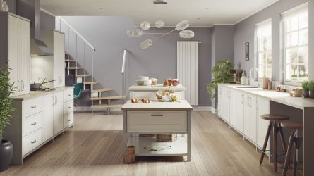Bridgewater kitchen - painted oak porcelain and light grey