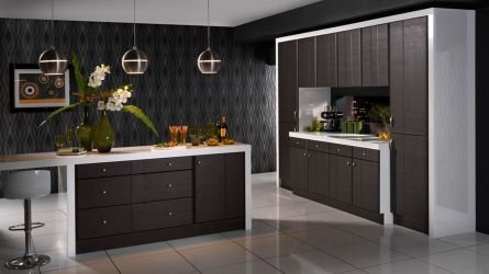 Grove kitchen - dark oak melinga