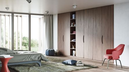 Metropole bedroom - natural dijon walnut