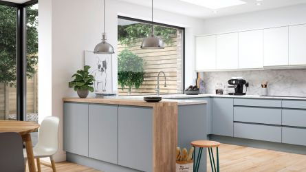 Handleless Kitchen Units Cabinets Lark Larks - Matt grey kitchen doors