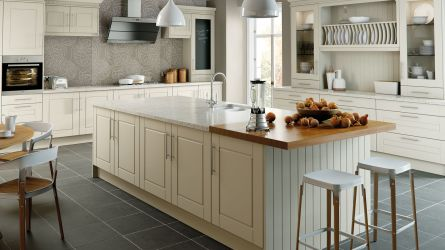 Surrey style replacement  Kitchen - Alabaster finish doors